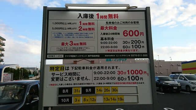 ヤマダ電機神戸和田岬店の駐車場