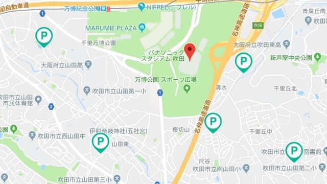 吹田スタジアム周辺 予約 駐車場