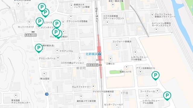 akippa 北新横浜駅 駐車場
