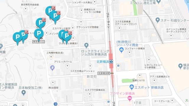 軒先パーキング 北新横浜駅 駐車場