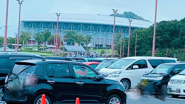 エコパの駐車場は混雑する