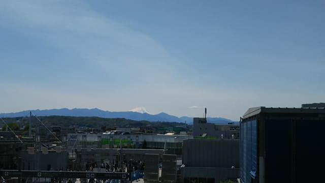 味の素スタジアム 富士山